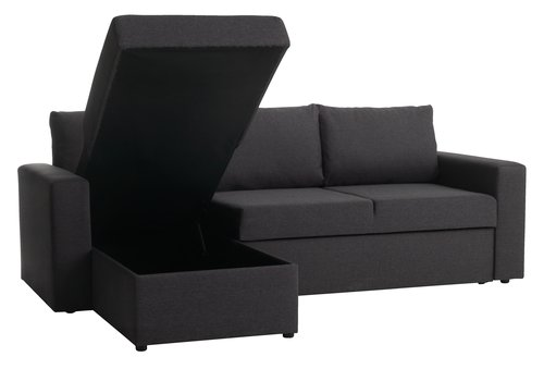 Slaapbank MARIAGER chaise longue d.grijs