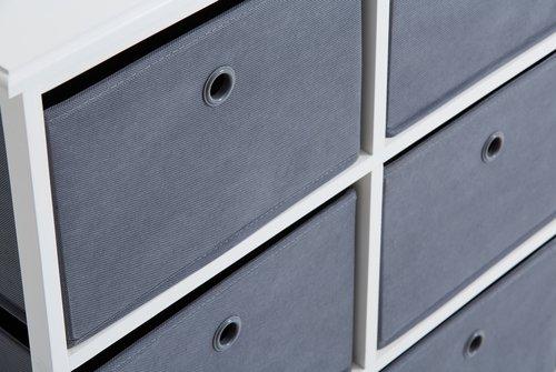 Kommode ODBY 3+3 kasser hvid/grå