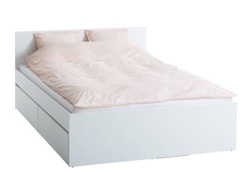 Posteľový rám LIMFJORDEN 160x200cm biela