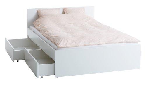 Rama łóżka LIMFJORDEN 140x200 biały