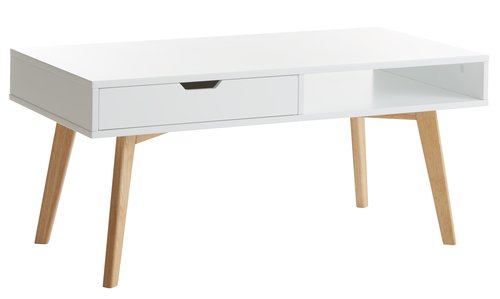 Coffee table TAMHOLT 50x100 cm white/oak
