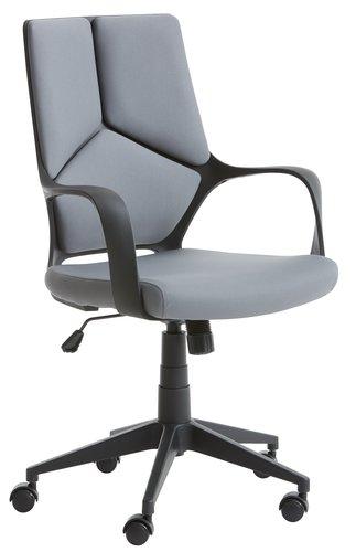 Kanc. stolica RAVNING siva/crna