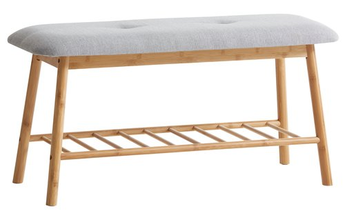 Bench VANDSTED grey/bamboo