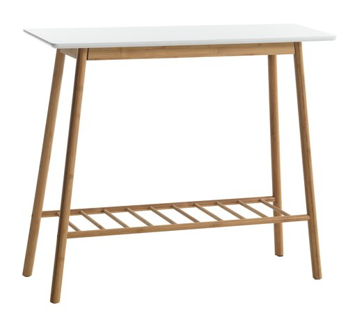 Console table VANDSTED 30x90 wht/bamboo