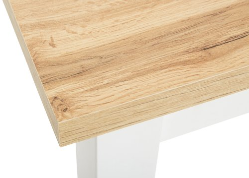 Dining table MARKSKEL 150/193 white/oak