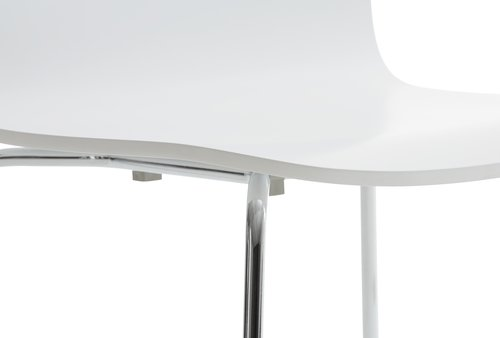 Dining chair BANNERUP white/chrome