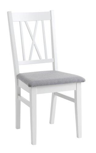 Stol NORDBY hvit/grå