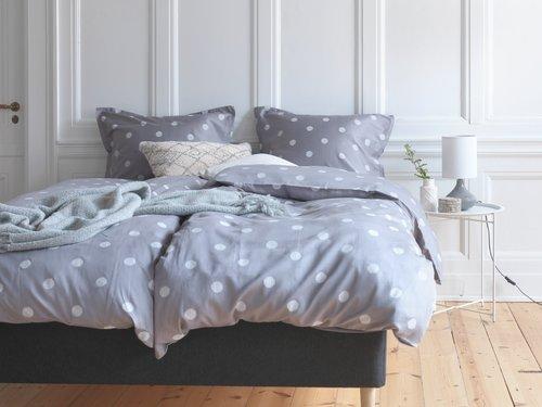 Set posteljine ANE saten 200x220 siva