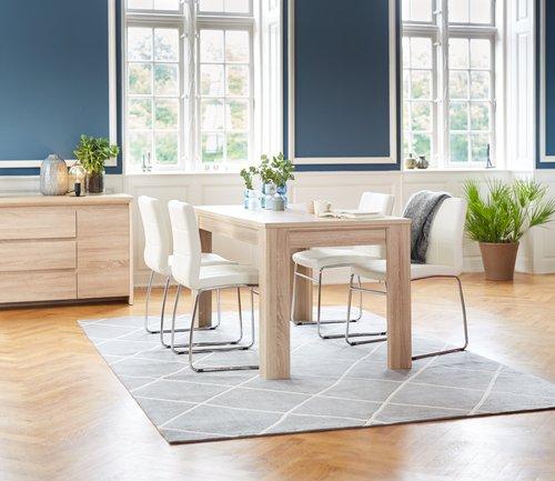 Eetkamerstoel hammel kunstleer wit jysk for Eettafel stoelen wit leer
