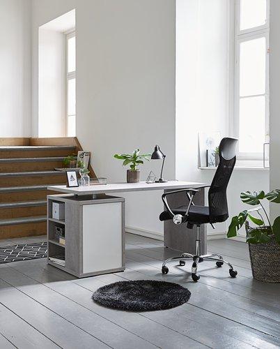 Skrivbord ULLITS 69x140 betong/högglans