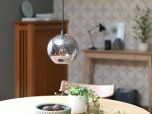 Hanglamp CARLOS Ø20xH18cm glas