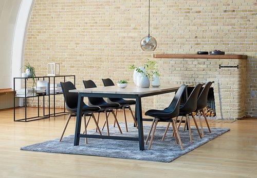 Spisebord GADESKOV 100x225 lys eik/svart