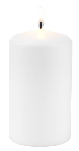 Vela grossa GUNVALD Ø7xA12cm branco