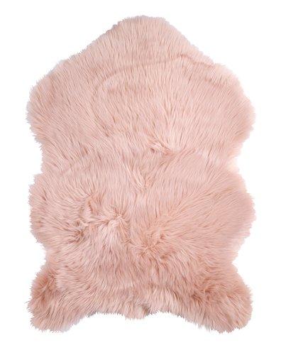 Imitert lammeskinn TAKS 60x90cm rosa