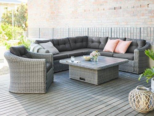 Lounge chair TAMBOHUSE grey