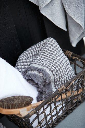 Badhanddoek LERKIL biologisch l.grijs