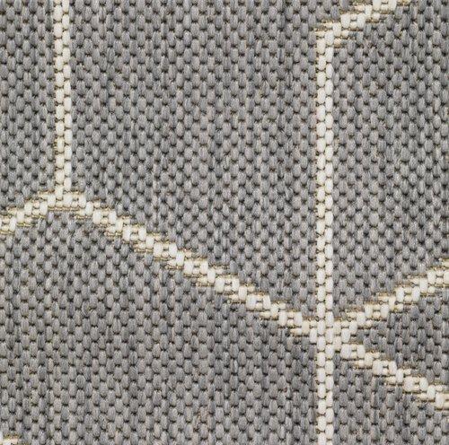 Vloerkleed BALSATRE 130x193 grijs/wit