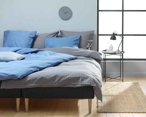 Lenjerie de pat KATJA dublă albastră