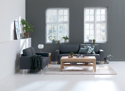3-θέσιος καναπές EGENSE σκούρο γκρι