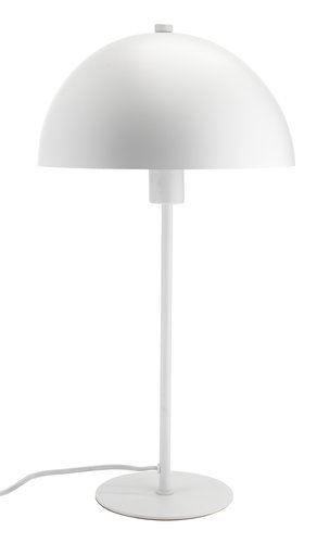 Lampe de table HELGI Ø25xH46cm blanc
