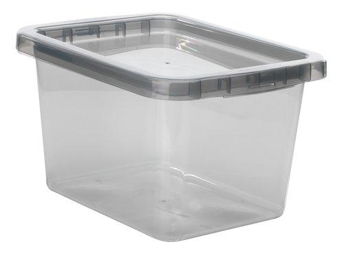 Коробка BASIC BOX 9л с крышкой серый