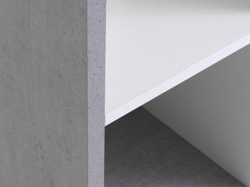 Regal HALDAGER 4 Böden beton/weiß