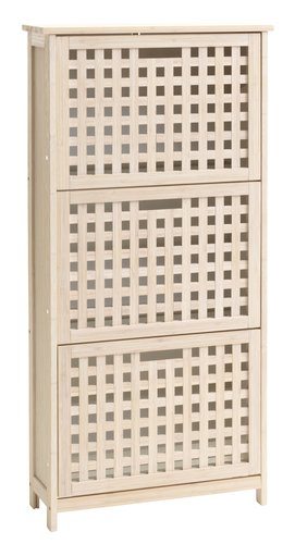 Shoe cabinet VALBY 3 comp. white