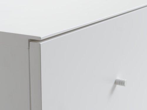 Kommode BAVNEHUSE 3 skuffer smal hvid