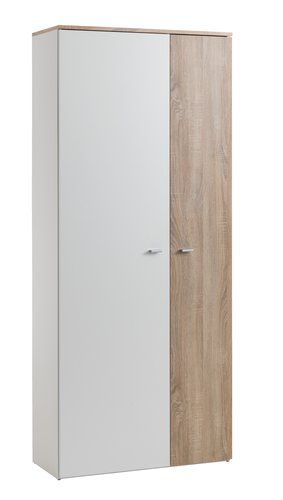 Hallway unit BELLE 2 doors white/oak