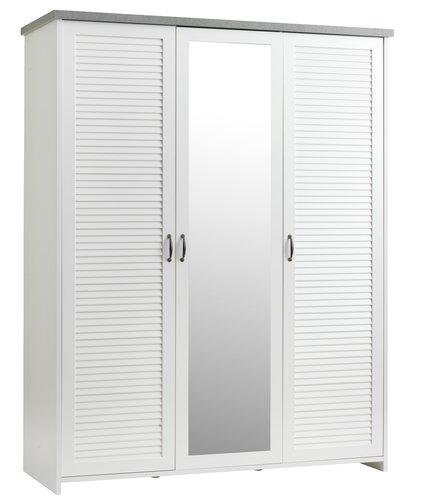 Skap MANDERUP 166x210 hvit/betong