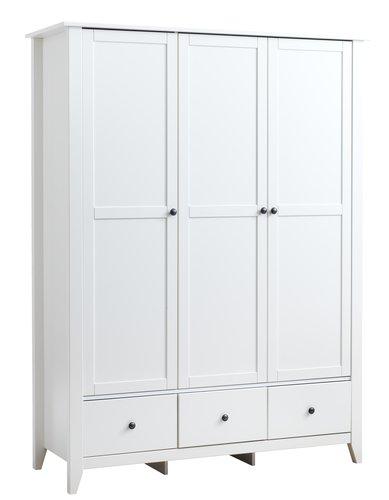 Гардероб NORDBY 150x200 см бял