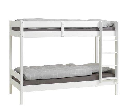 Emeletes ágy VESTERVIG 2x90x200 fehér