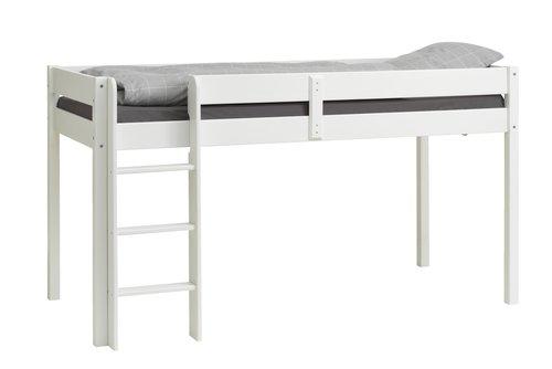 Halvhøy seng VESTERVIG 90x200 hvit