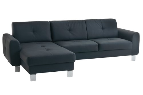 Bank DAMHALE chaise longue zwart