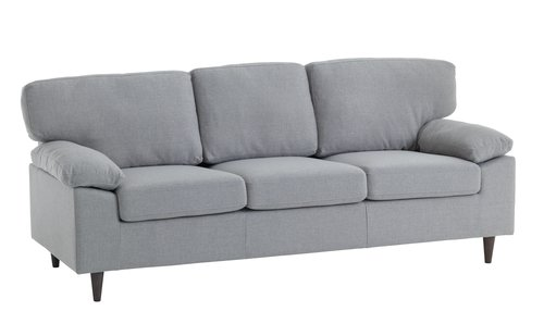 Sofa GEDVED 3 seater light grey