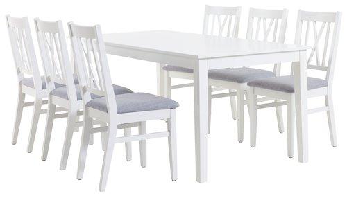 NORDBY D180 bijela + 4 NORDBY bijela