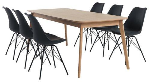 Ruokapöytä BREDEBRO 90x200 tammi