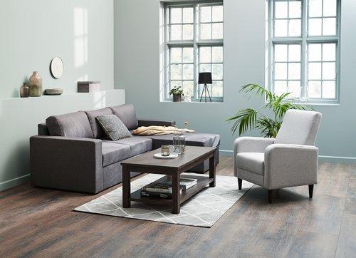 Coffee table RAMSING 60x120 cm dk brown