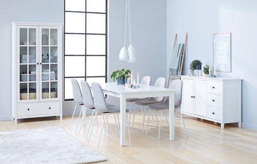 Ruokapöydän tuoli LYSTRUP v.harmaa/valk.