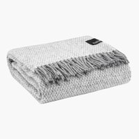 Wool throw HOIE 130x180 grey/off-white
