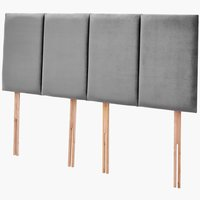 Headboard H50 STITCHED KNG Grey-43