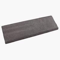 Nervøs velour TOMTE 3m/pk mørkegrå/sølv
