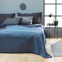 Sängöverkast ROSENTRE 240x260 mörk/d.blå