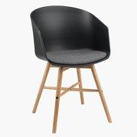 Jídelní židle FAVRBJERG černá/dub