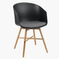 Кухненски стол FAVRBJERG черен/дъб