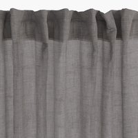 Curtain UNNEN 1x140x300 linen-look grey