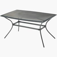 Table LARVIK 90x150 aluminium/steel