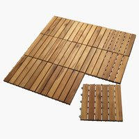 Deck tile KNEKKAND W30xL30 wood 9 pack