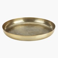 Decorative tray ERLING D34xH4cm brass
