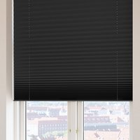 Plisségardin FYN 110x160 lysdemp svart